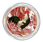 C169 - PDR-White & Black French Rooster Coaster
