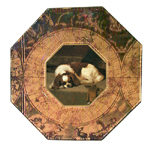 P124 Cavalier King Charles Spaniel Decoupage Plate