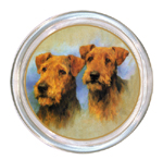 C160-Two Airedales Coaster