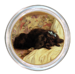 C164-Black Poodle Coaster