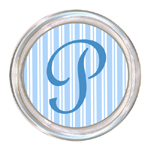 C1115-Blue Stripe Personalized Coaster