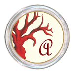 C1192-Red Coral Personalized Coaster