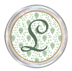 C1201-Sage Provencial Print Personalized Coaster