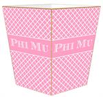 Phi Mu Wastepaper Baskets