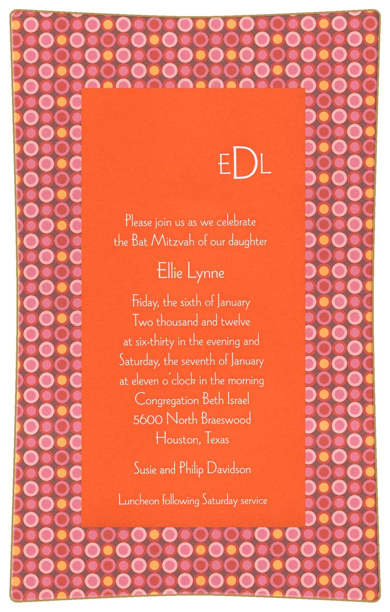 bat mitzvah invitation decoupage plate unique bat mitzvah gift