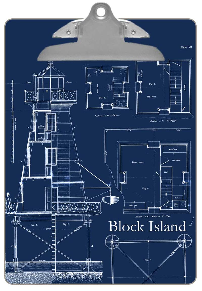 Pw2700 antique lighthouse blueprint paperweight cb2700 lighthouse blueprint clipboard malvernweather Images