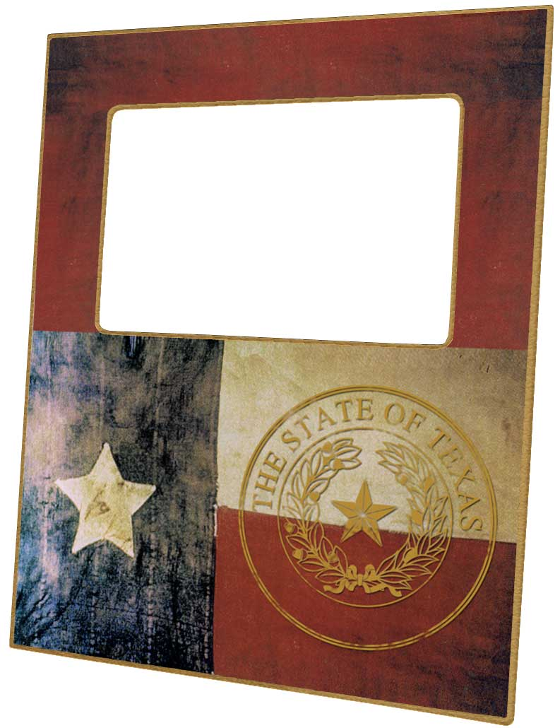 F8234 - Texas Flag with Seal Picture Frame