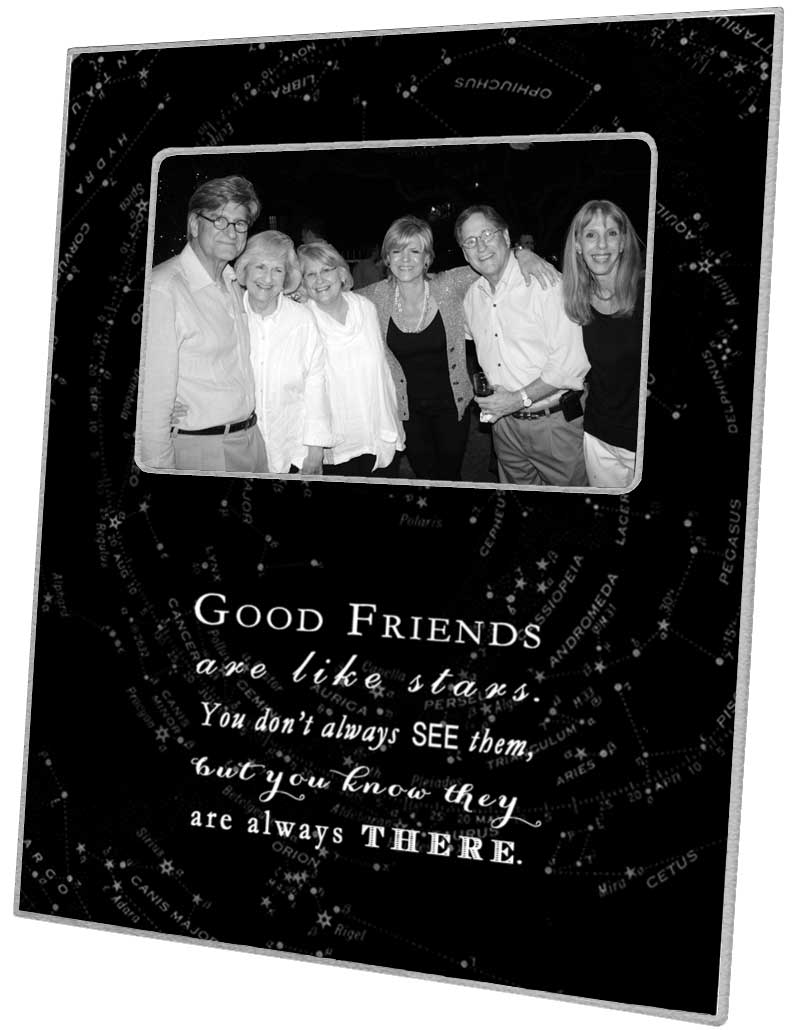 F8312 good friends are like stars quote picture frame black jeuxipadfo Gallery
