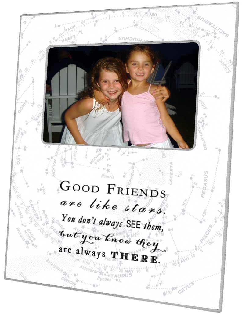 F8474 good friends are like stars quote picture frame white jeuxipadfo Gallery