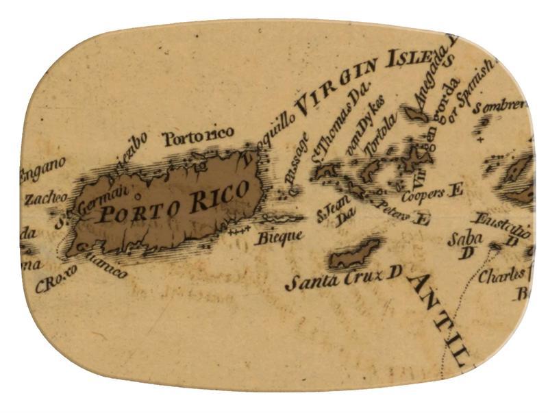 m2462 puerto rico virgin islands antique map melamine plate platter