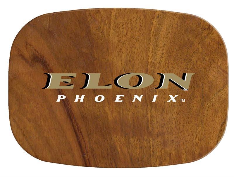 M3504 Elon University Phoenix Melamine Plate Platter Wood Grain Logo