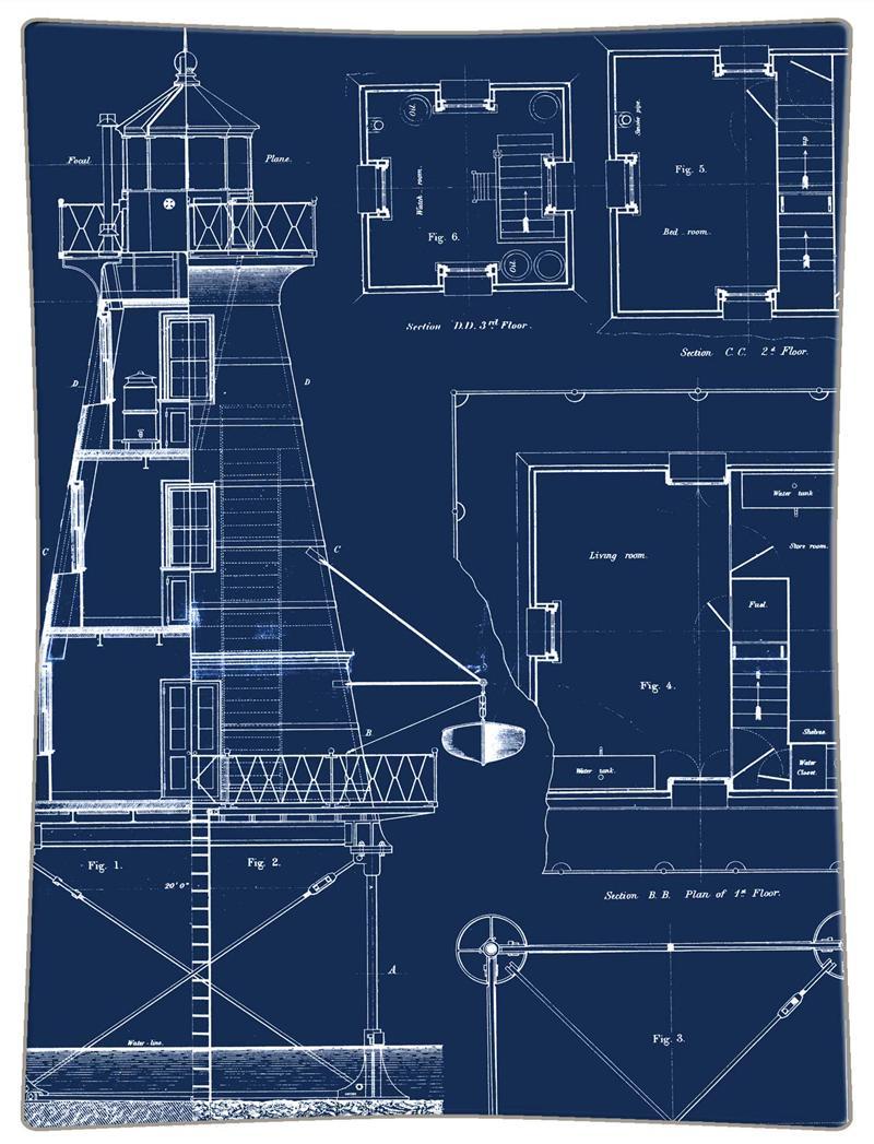 P2700 lighthouse blueprint decoupage plate malvernweather Images