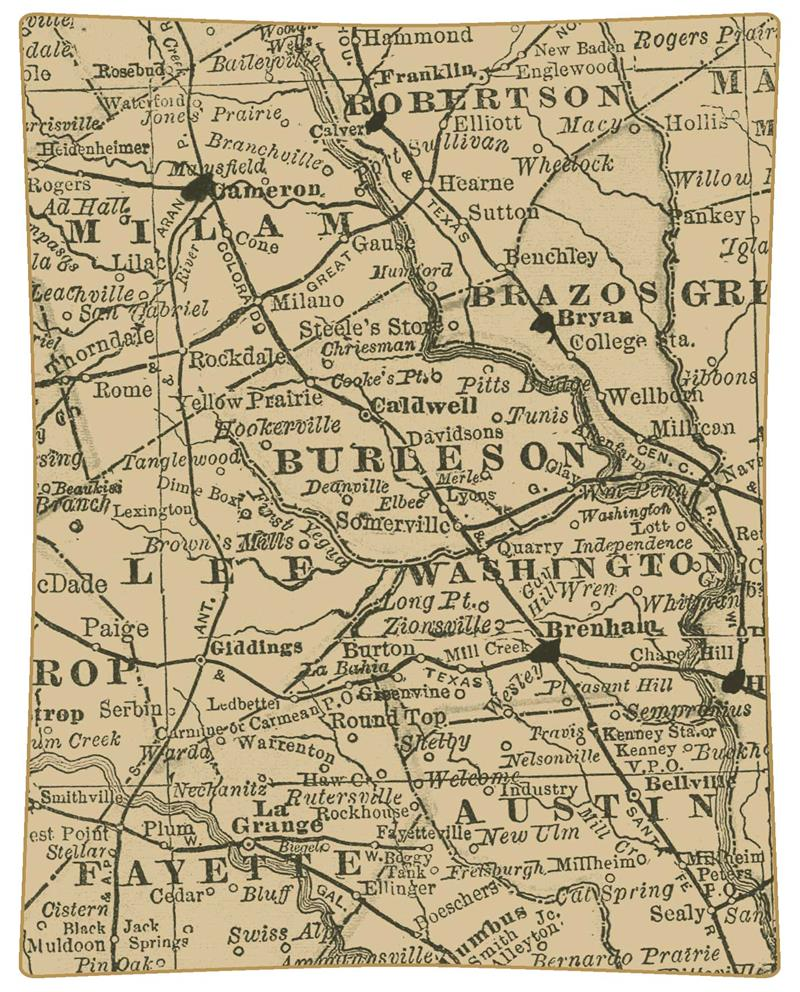 P8574Texas County Map