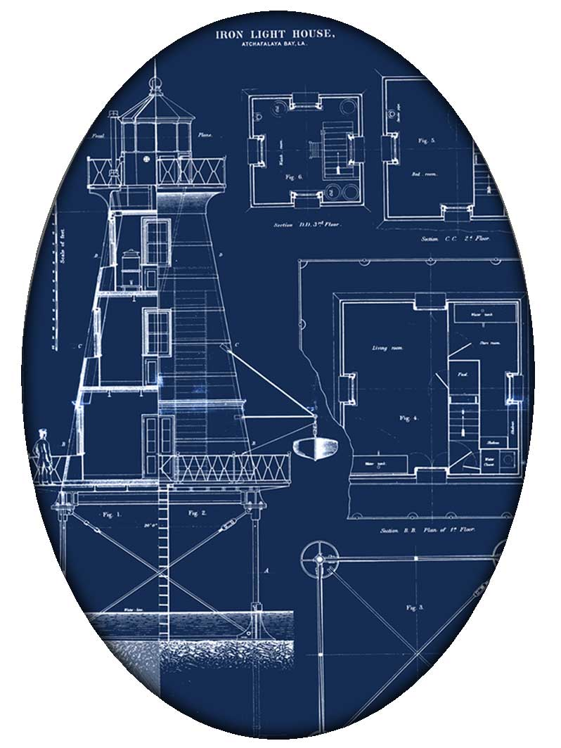Pw2700 antique lighthouse blueprint paperweight pw2700 lighthouse blueprint paperweight malvernweather Images