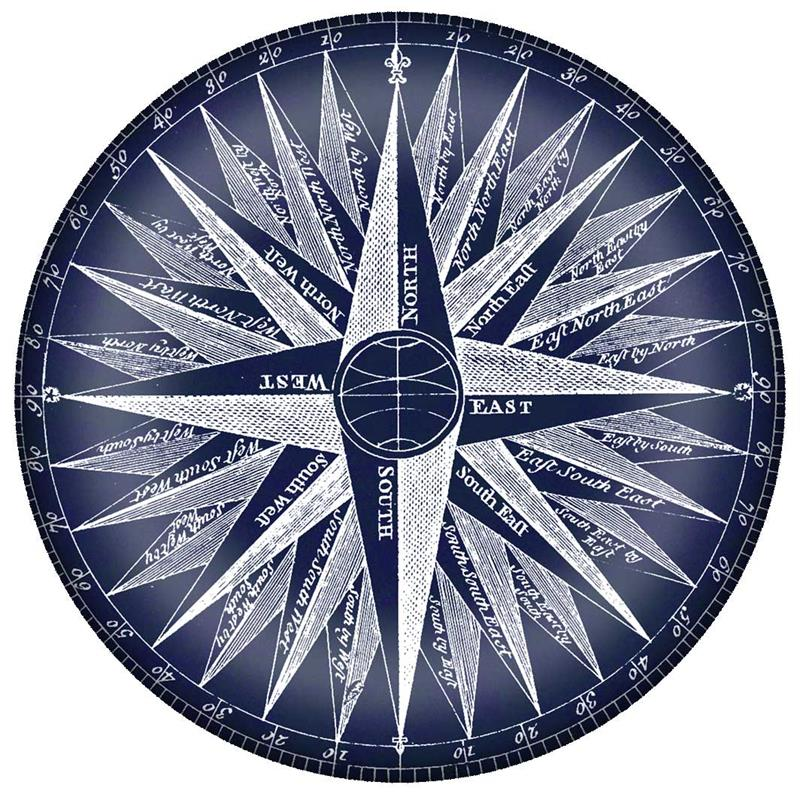 Pw8587 mariners compass blueprint paperweight malvernweather Images