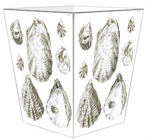 WB2708-Antique Oyster Shells Wastepaper Basket