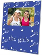 F1129-Blue Tennis Personalized Picture Frame