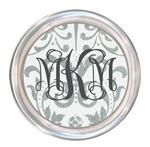 C1191-Silver Damask Personalized Coaster
