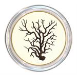 C1263-B Plain-Brown Coral Coaster