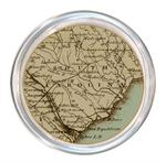 C1708-South Carolina Antique Map Personalized Coaster