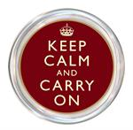 C1730-Keep Calm and Carry On Red Coaster