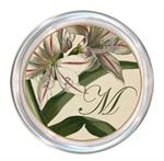 C2652-Antique Lilies Decoupage Glass Coaster