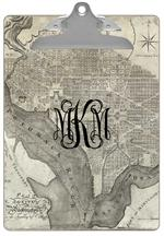 CB1706- Antique Washington D.C.Map  Personalized Clipboard