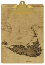 CB1768 - Antique Nantucket Map Clipboard