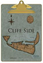 CB1799 - Primitive Nantucket Map Clipboard