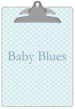 CB2605 - Chelsea Light Blue Personalized Clipboard
