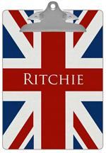 CB2608-Union Jack Personalized Clipboard