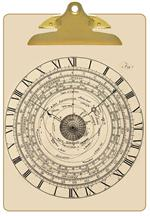 Astronomical Clock Clipboard