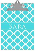 CB2983 - Turquoise Chelsea Grande Personalized Clipboard