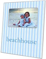 F1115-Blue Stripe Personalized Picture  Frame