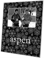 F1143-Black Snowflake Personalized Picture  Frame