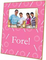F1182 - Hot Pink Golf Personalized Picture Frame