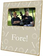 F1183-Tan Golf Personalized Picture  Frame