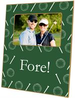 F1222 - Dark Green Golf Personalized Picture Frame