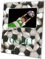 F1225-Antique Soccer-Green Text Personalized Picture Frame