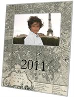 F1481-Antique Paris Map Personalized Picture Frame