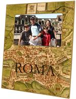 F1482-Antique Rome Map Personalized Personalized Frame