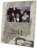 F1514-Antique New York Map Personalized Picture Frame