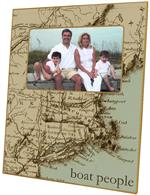 F1534-Antique Cape Cod Map Picture Frame