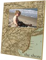 F1536-Antique Jersey Shore Map Picture Frame