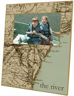 F1550-Antique Chesapeake Map Picture Frame