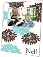 F1560-Mod Mum Brown & Blue Picture Frame