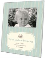 F1644 - Avery Aqua Birth Announcement Picture Frame