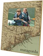 F1716- Upper Texas Coast Map Picture Frame