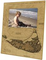 F1768-Nantucket Antique Map Picture Frame