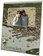 F1769-Nantucket Town Antique Map Picture Frame